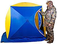 Палатка Куб 2 Стэк двухместная для зимней рыбалки полуавтомат