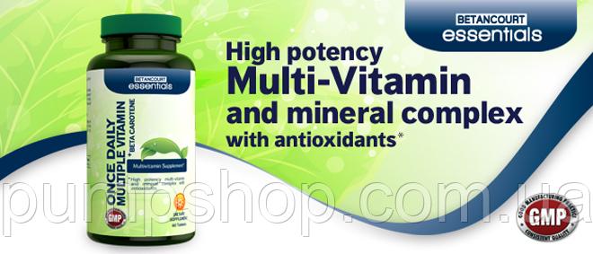 Витамины Betancourt Nutrition Once Daily Multiple Vitamin 60 таб ( США ) уценка, фото 2
