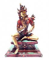 Статуэтка бронзовая Зелёная Тара с инкрустацией
