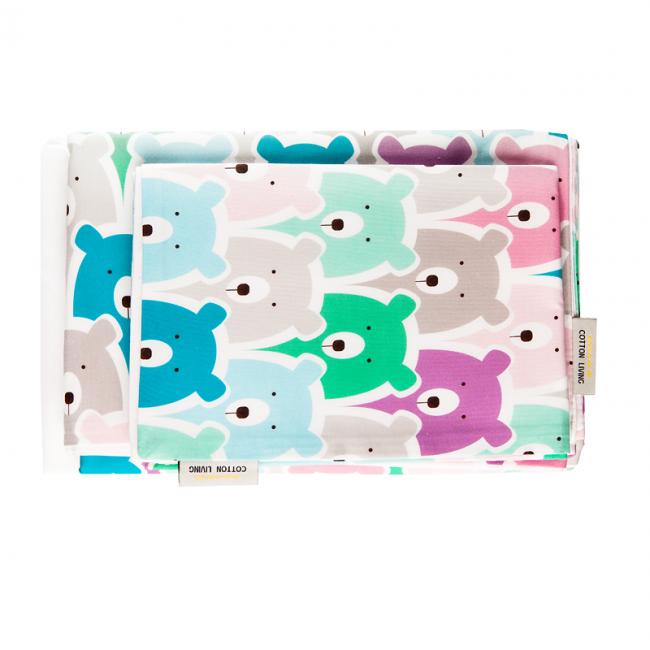 Cotton Living - Комплект постельного белья в кроватку Funny Bears Pink