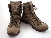 Тактичні кросівки з високими берцями кольору хакі, фото 1