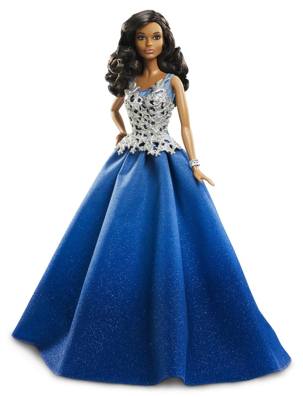 "Лялька Барбі Новорічна 2016 ""Афроамериканка"" / Barbie Holiday African American Doll"