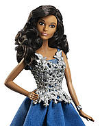 "Лялька Барбі Новорічна 2016 ""Афроамериканка"" / Barbie Holiday African American Doll, фото 3"