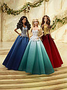 "Лялька Барбі Новорічна 2016 ""Афроамериканка"" / Barbie Holiday African American Doll, фото 6"