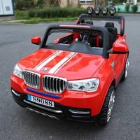 Двухместный электромобиль Джип M 0008 4Х4 Красный, надувные колеса, кож. сиденье
