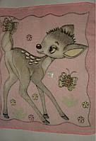 Одеяло плед для детей махровое 98*87 см.