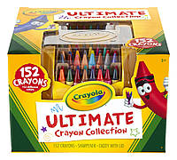 Crayola 152 восковых мелка в пластиковом органайзере с точилкой Ultimate Crayon Case 152-Crayons, фото 1