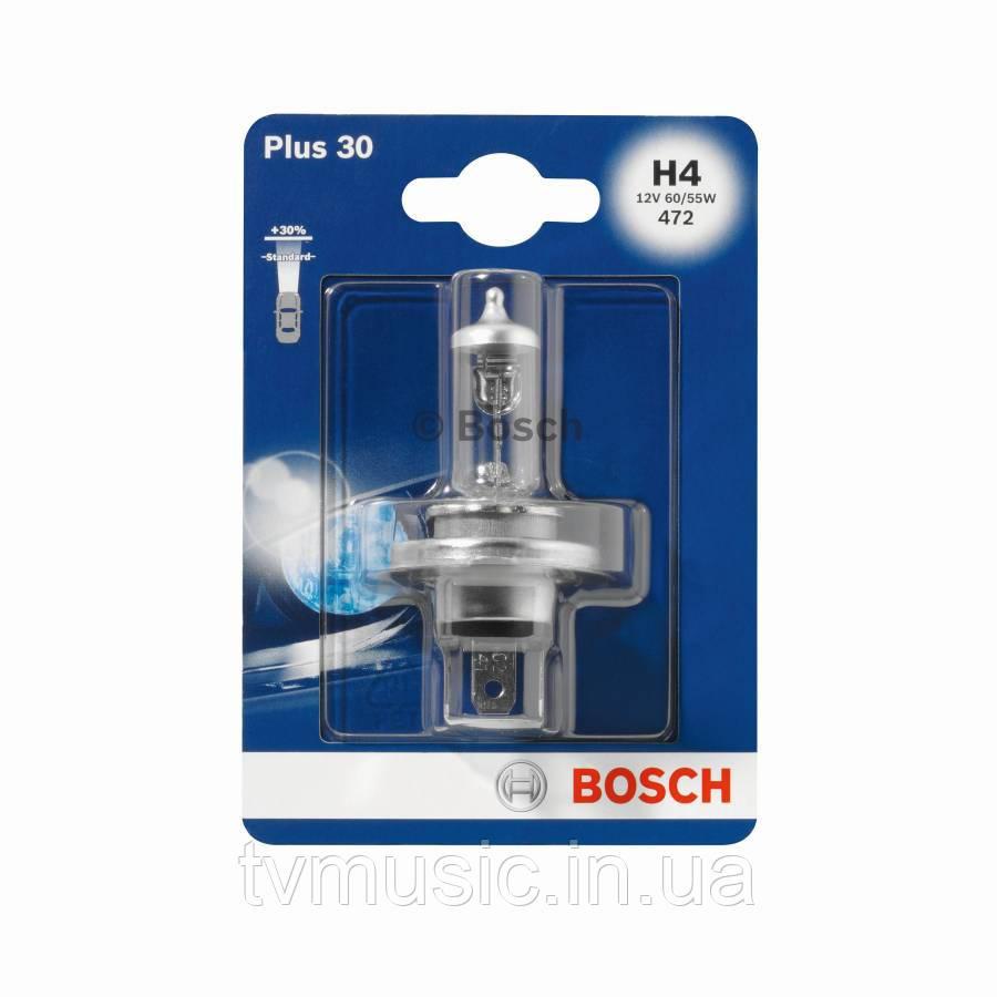 Автомобильная лампа Bosch Plus 30 H4 12V 60/55W (1987301002)