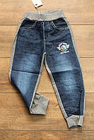 Утепленные комбинированные брюки с начесом 4- года