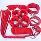 Набор Садо-мазо,фетиш, BDSM.БДСМ Плетка, веревка 5 м.маска,кляп,наручники 2 пары,ошейник.Розовый., фото 3