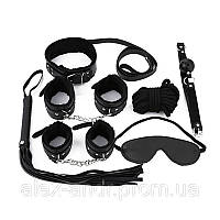 Набор садо-мазо. BDSM.БДСМ Плетка, веревка 5 м.,маска, кляп,наручники 2 пары, ошейник, Набор для игр. 4 цвета.
