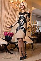 Женское замшевое демисезонное платье + большой размер