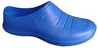 Галоши женские цветные «Штрих» Синий яркий