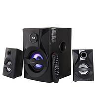Колонки 2.1 F D F380X Black Bluetooth / Sub: 28Вт, Sat: 2x13Вт / 20-20000Hz / Sub: МДФ, Sat: пластик / FM тюнер / Пульт ДУ
