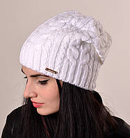 Женская шапка на флисе с закрепом