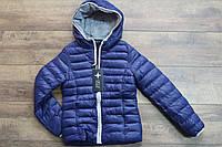 Теплая куртка на синтепоне для девочек 140- 158 рост