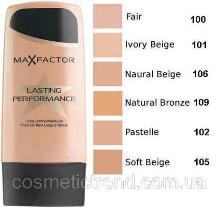 Тон для лица Max Factor Lasting Perfomance 30 ml #101 Ivory Beige, фото 2