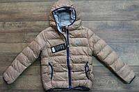 Теплая куртка на синтепоне для девочек 140- 164 рост