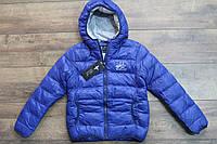 Теплая куртка на синтепоне для девочек 140- 146 рост