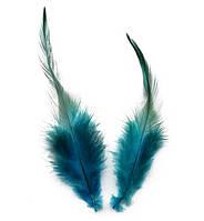 Перья петуха декоративные (Перо) Морской голубой 5-14 см 10 шт/уп