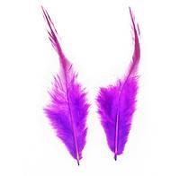Перья петуха декоративные (Перо) Фиолетовые 5-14 см 10 шт/уп