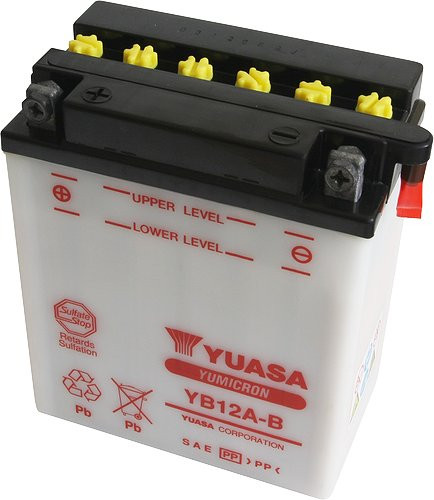 Аккумулятор мотоциклетный 12Ah 150A YUASA YB12A-B , KAWASAKI ZZR / ZR / VN / GPZ / BN , HONDA VF / XL