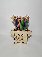 """Деревянный стаканчик для карандашей, """"Слоник"""", фото 1"""