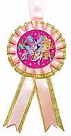 """Медаль детская """"Winx"""". Диаметр с бантом: 85мм."""