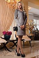 Женское демисезонное замшевое платье + большой размер