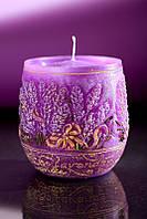 Свеча ароматическая лаванда 3, 90х95мм. 1шт. фиолетовая