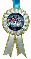 """Медаль детская """"Трансформеры"""". Диаметр с бантом: 85мм."""