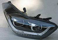 Hyundai Elantra MD оптика передняя ксеноновая альтернативная черная TLZ