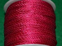 Капроновый шнур 3 мм  малиновый 20160