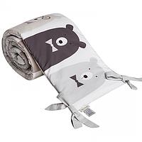 Cotton living - Защита в кроватку Funny Bears Silver