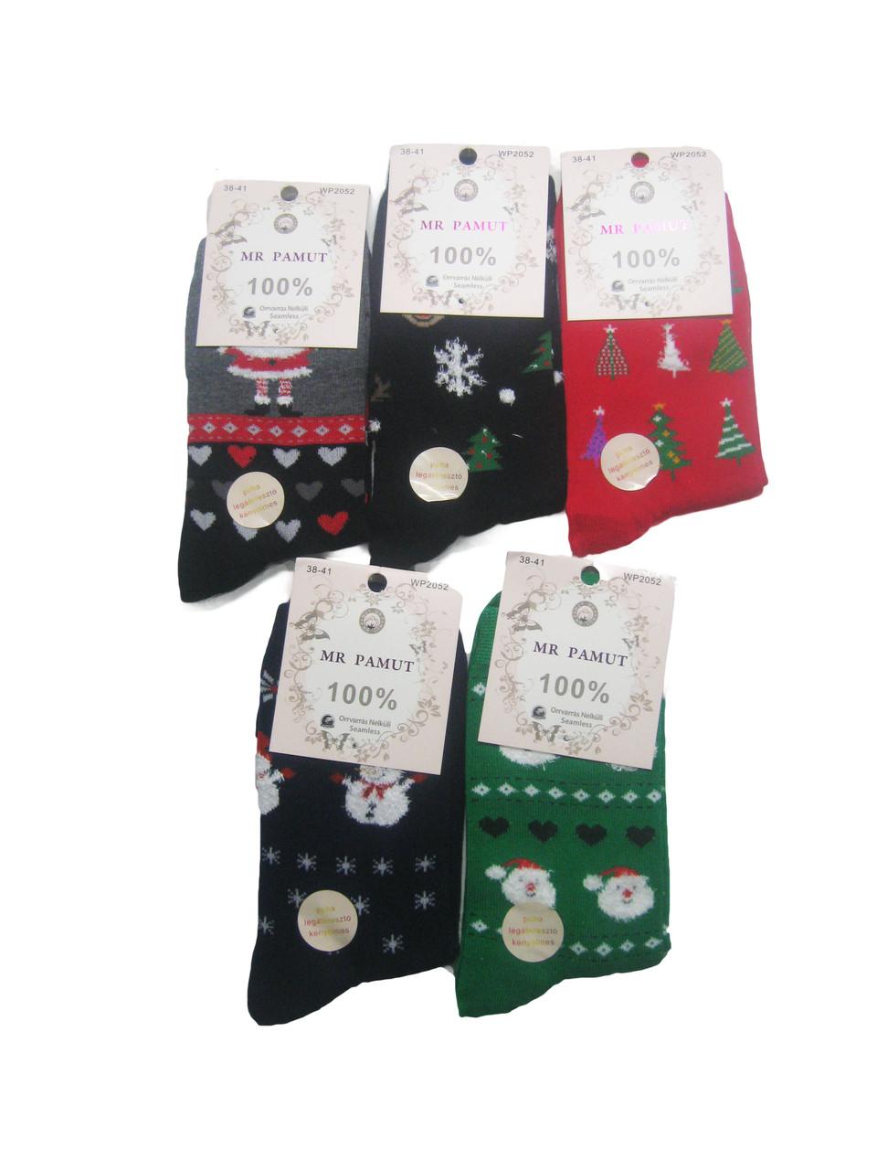 Носки женские новогодние, Mr.Pamut, размеры 35/38,38/41, арт. WP 2052