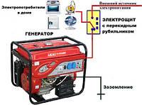 Как выполнить подключение генератора к дому