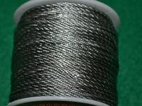 Капроновый шнур 3 мм  серый 20162