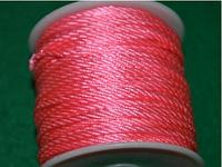Капроновый шнур 3 мм  розовый  20163