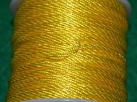 Капроновый шнур 3 мм  жёлтый  20165