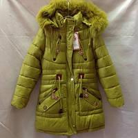 Детское пальто на меху для девочки