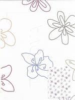 Рулонные шторы цветы разноцветные