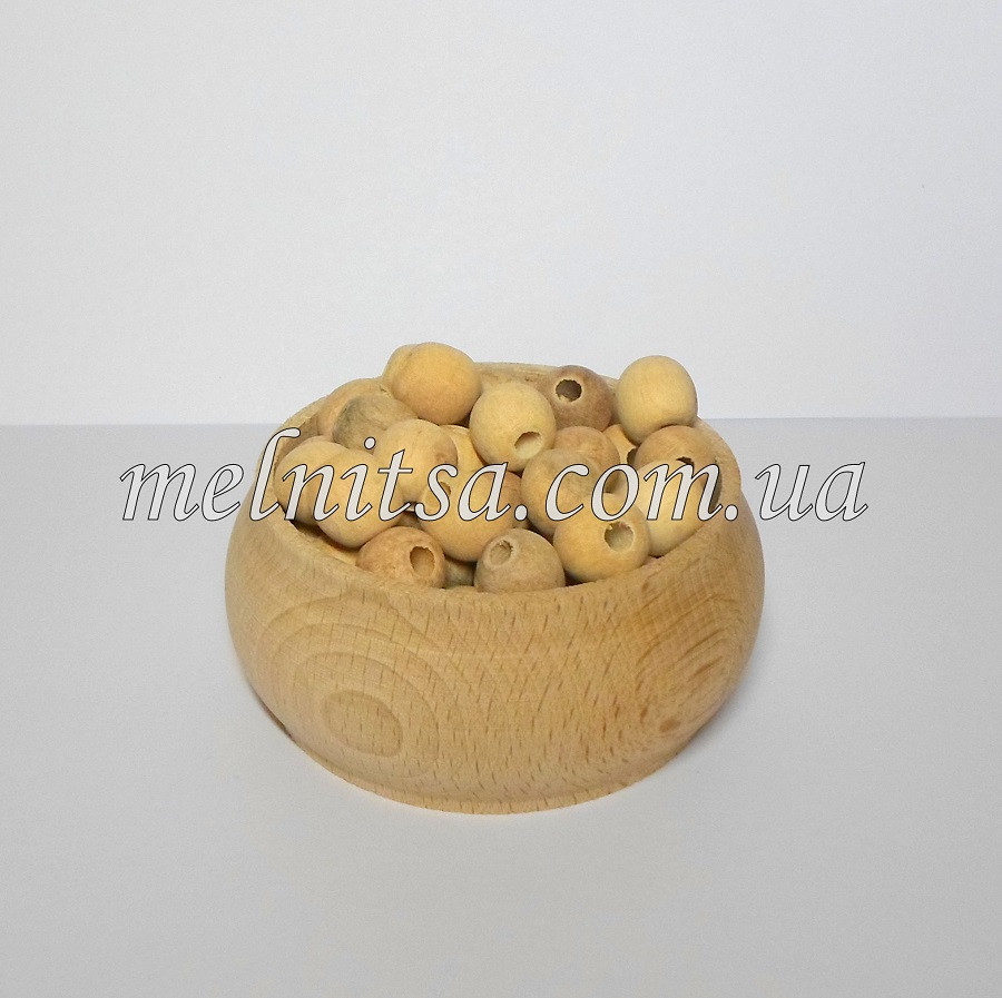 Бусины деревянные, бук , 13 мм, 20 шт.