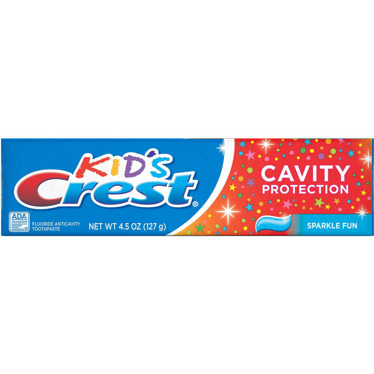 Зубная паста Crest Kids Cavity Protection Sparkle Fun Flavor  - детская зубная паста от кариеса