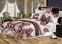 Комплект постельного белья евро 200*220 хлопок  (6153) TM KRISPOL Украина