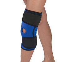 Бандаж коленного сустава неопреновый с ребрами жесткости и силиконовым кольцом 2 размер Aлком 4053