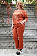 Костюм женский большого размера Люкс замш (2цв), замшевый женский костюм большого размера, дропшиппинг