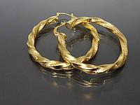 Серьги с золотым покрытием  C0002.