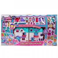 Кукольный домик с мебелью и куклами