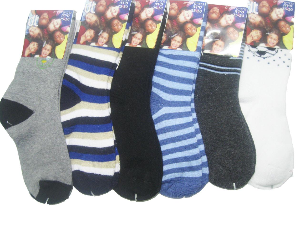 Носки  махровые для мальчиков, размеры  19/24(27),25/30(2),. DT 118/м