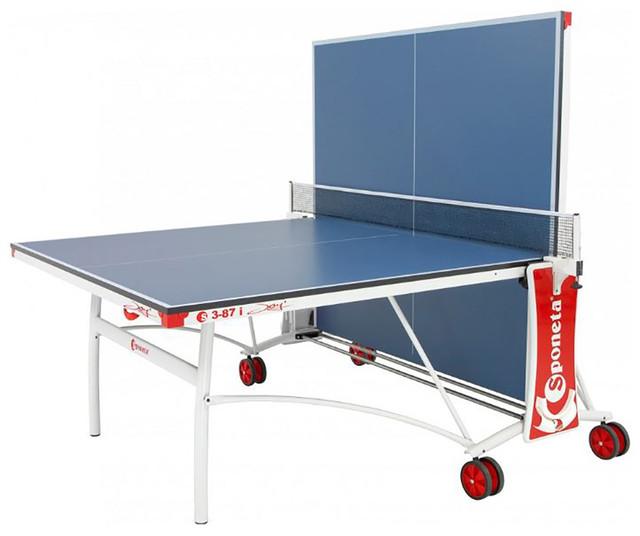 Стол теннисный Sponeta S3-87i(белый, профиль) для одного игрока